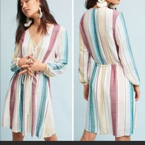 Anthropologie yarn dyed Cusco striped dress